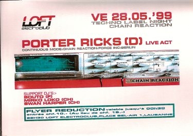 porter ricks, chain reaction, dj bouto, mirko loko, swan harper