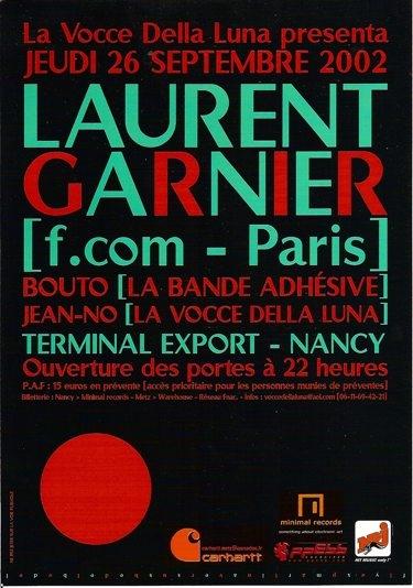 laurent garnier, bouto, jean-no, terminal-export, nancy